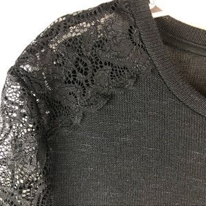 Divided Tops - Lace Shoulder & Sleeve Top
